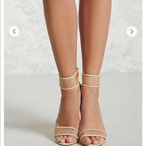 Nude Mesh Heels